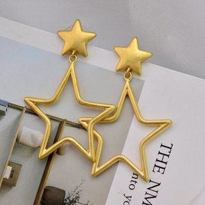 Tory Burch Vintage Gold Hollow Star Earrings